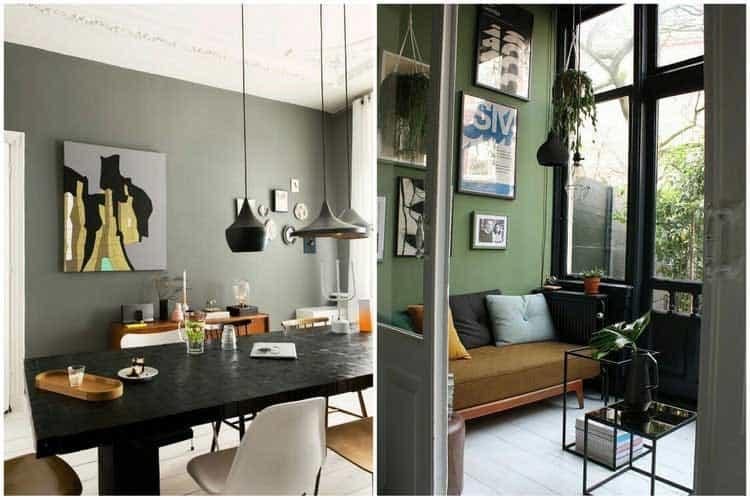 Vert kaki : la nouvelle couleur tendance pour la décoration