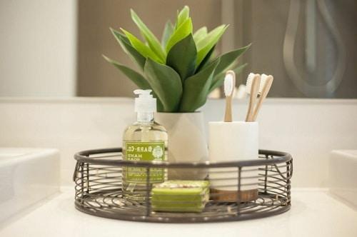 touche luxe salle de bain plantes