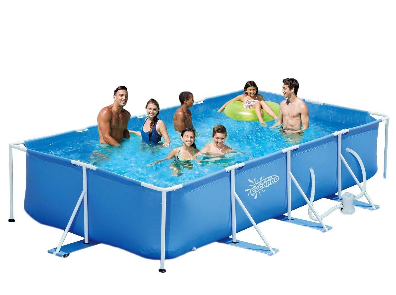 piscine autoportee famille