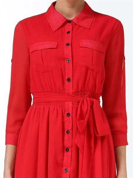ceinture maxi de couleur rouge