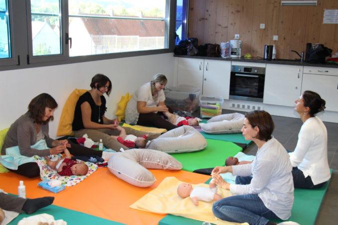 Atelier de massage pour bébé