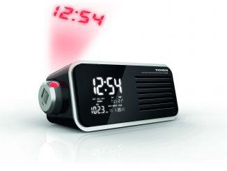 Un radio réveil projecteur